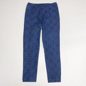 Soft Surroundings Blue Jacquard Stretch Pants S